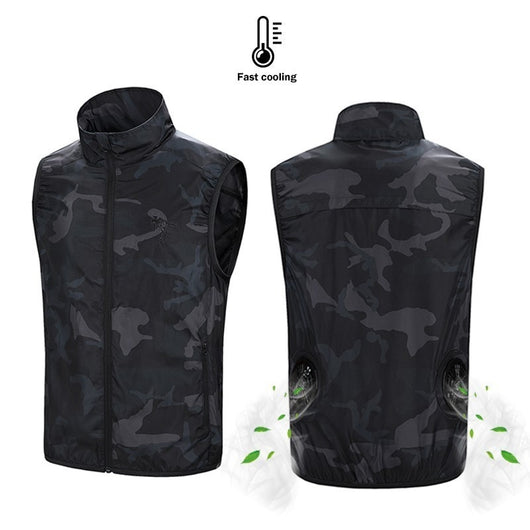 USB Powered Cool Airflow Vest - Camo