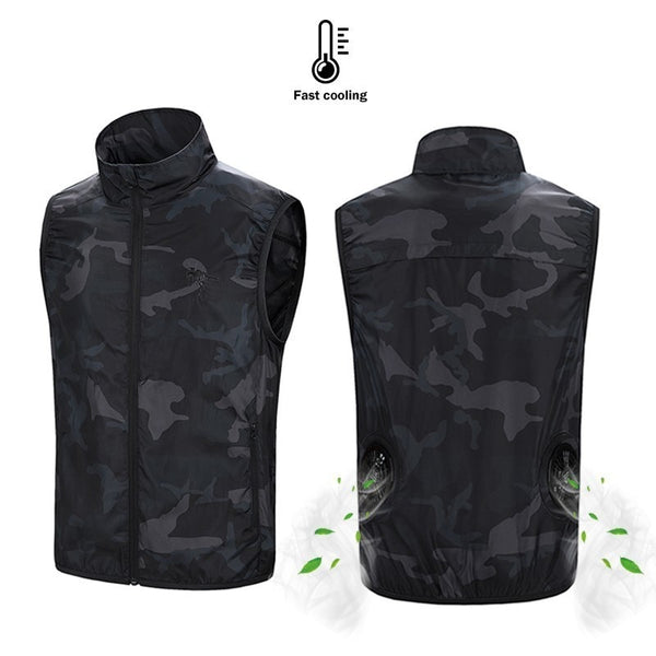 Battery Powered Cooling Vest - Camo