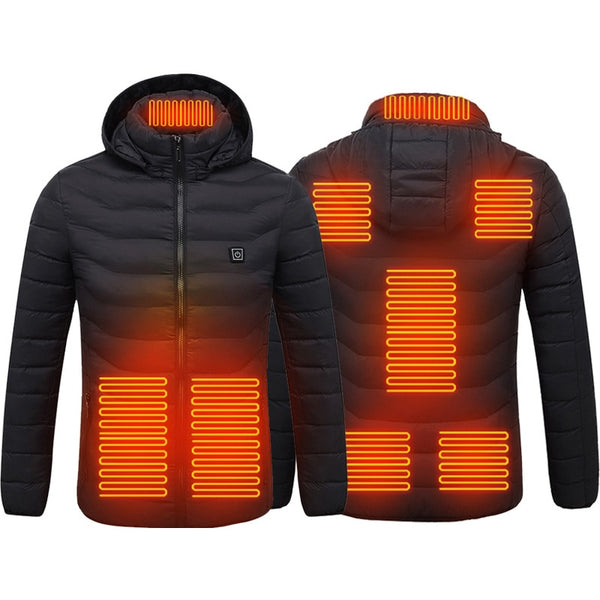 USB Powered Heated Jacket - 8 Heat Zones
