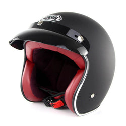 Family Avenue Black Retro 3/4 SOMAN™ Helmet