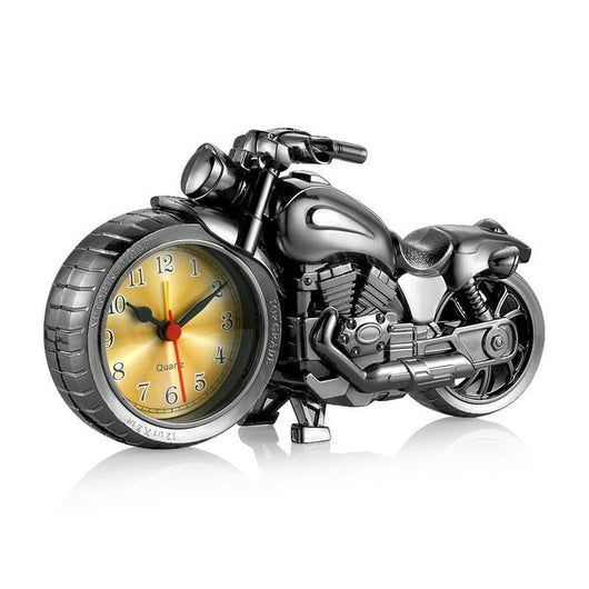 Family Avenue Classic Motorcycle Clock Gun Gray