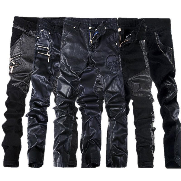 Family Avenue Leather Biker Pants