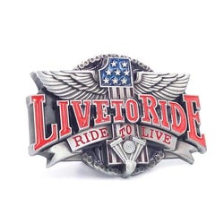 Family Avenue Live To Ride Belt Buckle