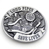 Family Avenue Loud Pipes Save Lives Belt Buckle