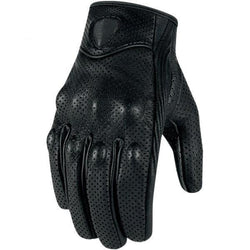 Family Avenue Premium Goatskin Motorcycle Gloves Perforated / L
