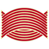 Family Avenue Reflective Wheel Rim Stripe Decal Tape Red / 14 inch