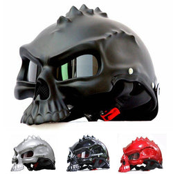Family Avenue Skull Motorcycle Helmet