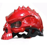 Family Avenue Skull Motorcycle Helmet Bright Red / M