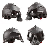 Family Avenue Skull Motorcycle Helmet Matte Black / M
