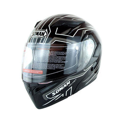 Family Avenue SOMAN™ Motorcycle Flip-Up Helmet Black White / L (59-60)