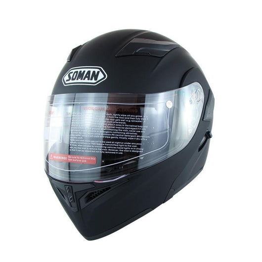 Family Avenue SOMAN™ Motorcycle Flip-Up Helmet Matte Black / L (59-60)