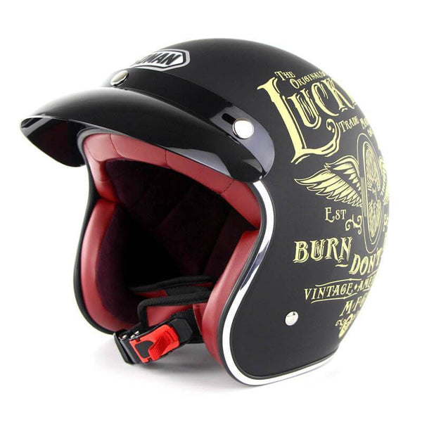 Family Avenue SOMAN™ Retro 3/4 Motorcycle Helmet