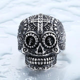 Family Avenue Sugar Skull Ring Silver / 8