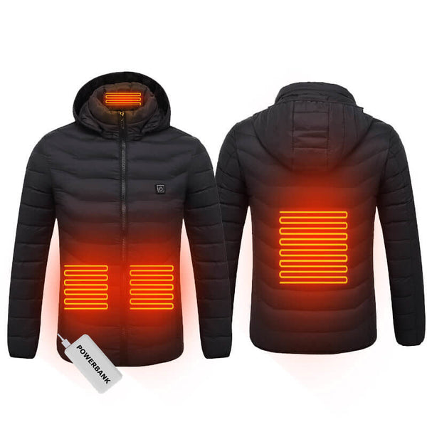 USB Powered Heated Jacket - 4 Heat Zones