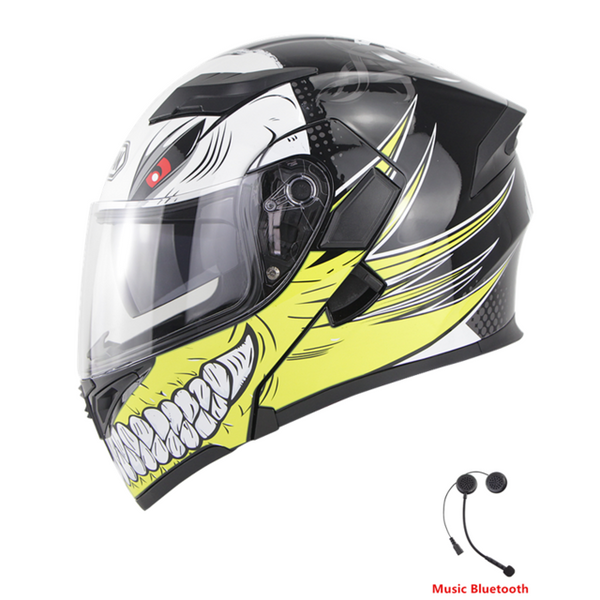 Modular Flip-Up Dual Visor Bluetooth DOT Helmet / Beast