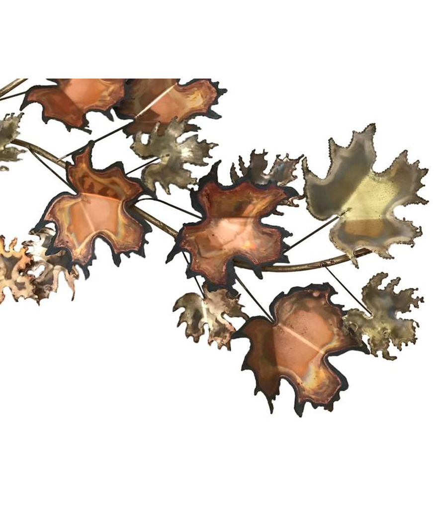 A CURTIS JERE MAPLE LEAF WALL SCULPTURE