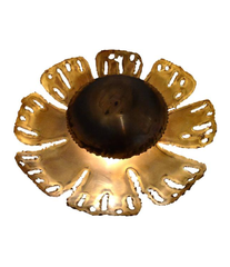 A HOLM SORENSEN BRASS FLOWER WALL LIGHT