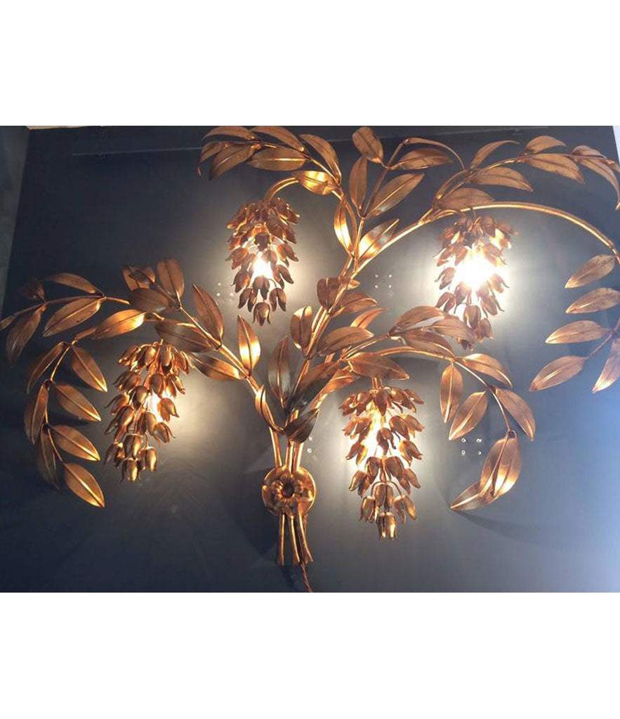 A HANS KOGL WISTERIA WALL LIGHT