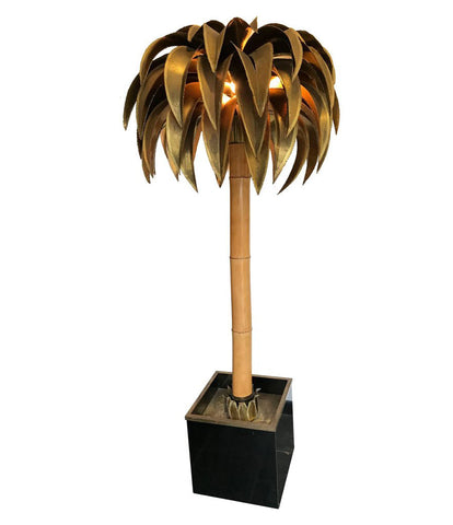 A LARGE MAISON JANSEN PALM TREE FLOOR LAMP