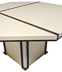 A WHITE MAHEY DINING TABLE