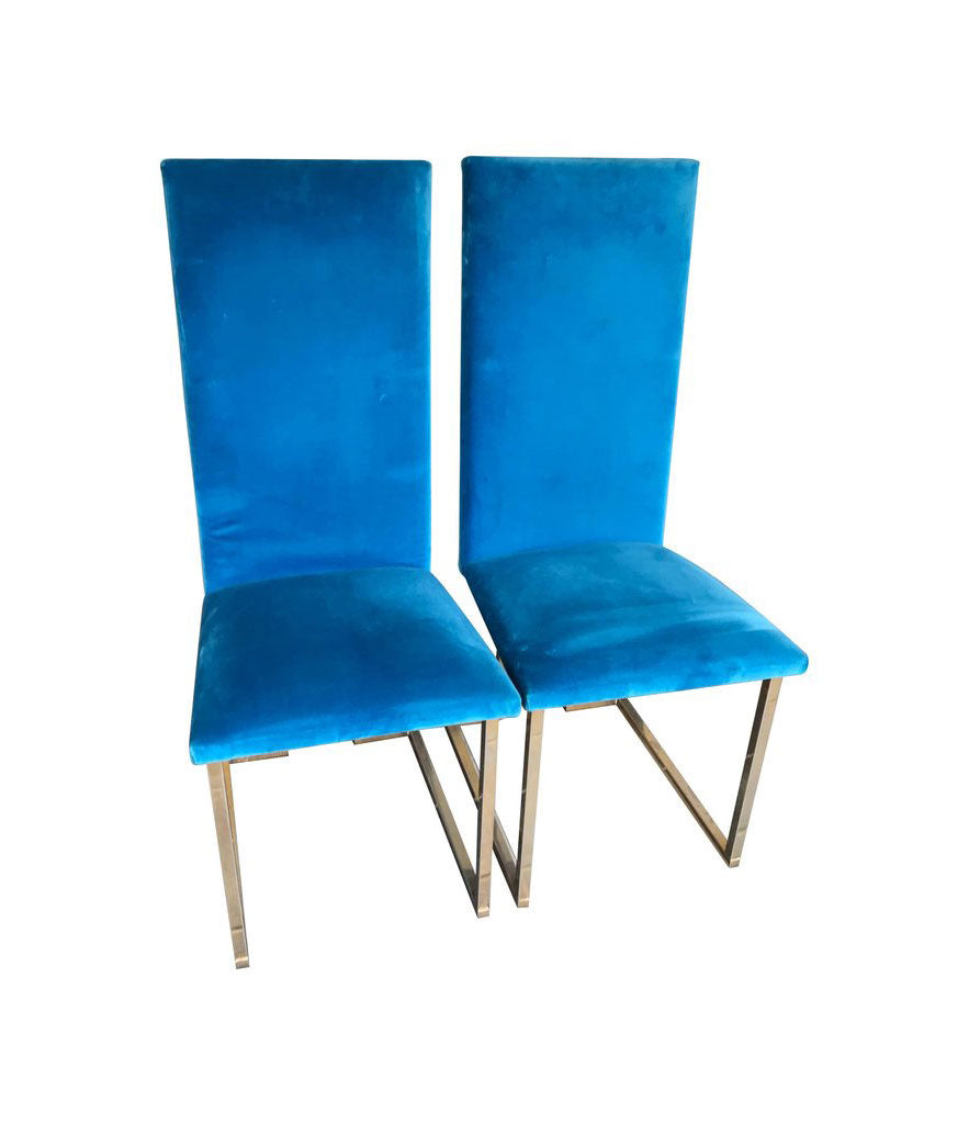 A SET OF 12 WILLY RIZZO DINING CHAIRS