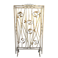 A STUNNING SET OF 5 1950S FRENCH GILT METAL SCREEN ROOM DIVIDERS