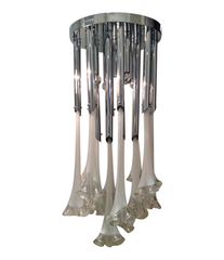 A LARGE MURANO GLASS CHANDELIER