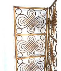 A LARGE 1970S FRENCH RIVIERA HINGED SIX PANEL BAMBOO SCREEN, ROOM DIVIDER