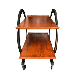 AN ART DECO STYLE BAR TROLLEY
