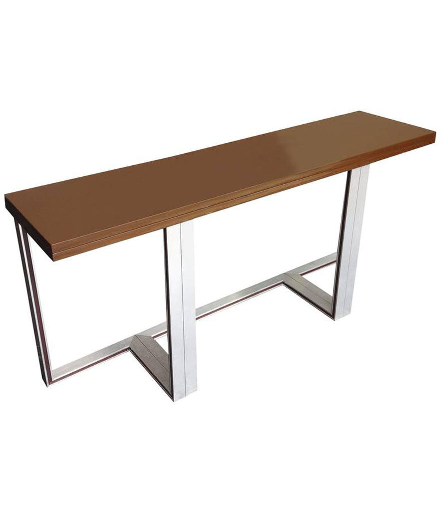 Awesome ARTELANO BROWN LACQUER EXTENDING CONSOLE TABLE
