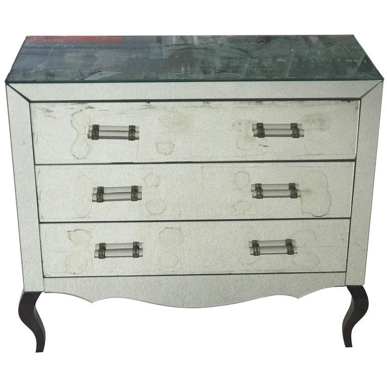 ART DECO MIRRORED CHEST OF DRAWERS