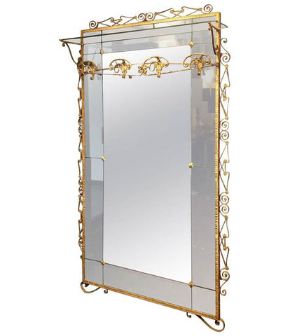 BEAUTIFUL PIER LUIGI COLLI HALLWAY MIRROR AND COAT STAND