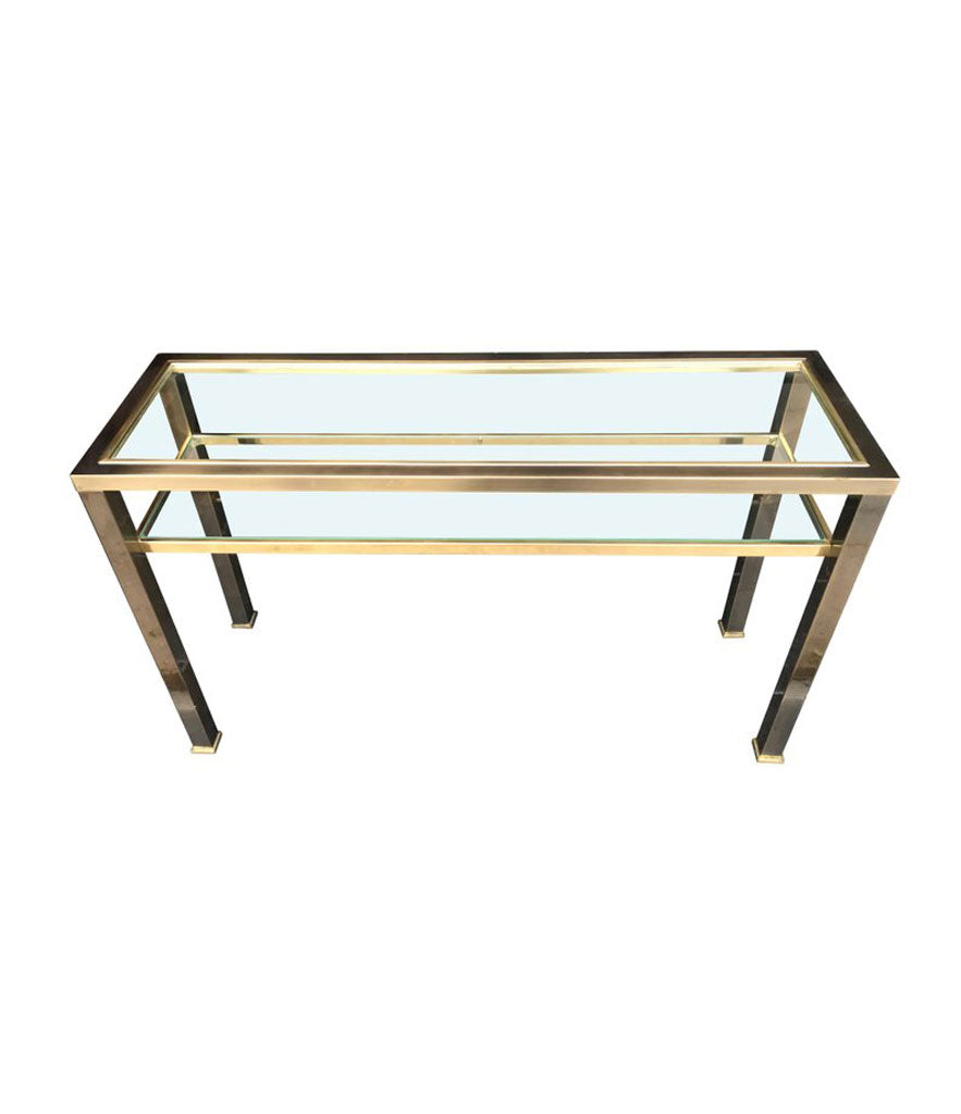 BELGO CHROME CONSOLE TABLE