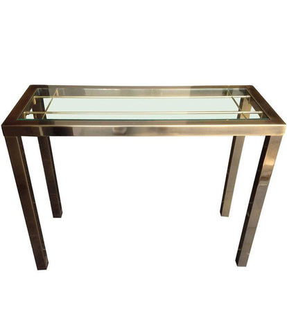 BELGO CHROME GILT METAL CONSOLE