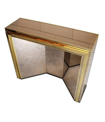 BELGO CHROME MIRRORED CONSOLE OR DRESSING TABLE