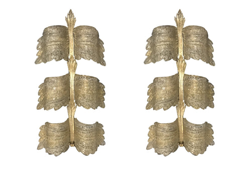 A PAIR OF LARGE SEGUSO WALL SCONCES