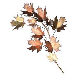CURTIS JERE MAPLE LEAF WALL SCULPTURE