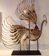 CURTIS JERE PEACOCK SCUPLTURE