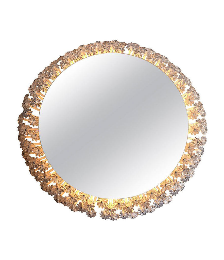 EMIL STEJNAR CIRCULAR BACKLIT FLOWER MIRROR