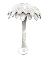 FANTASTIC LARGE 1970S ITALIAN WHITE CERAMIC PALM TREE FLOOR LAMP