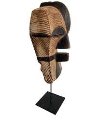 FEMALE SONGYE KIFWEBE HAND CARVED CEREMONIAL MASK