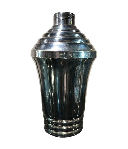 FRENCH ART DECO SILVER PLATED COCKTAIL SHAKER
