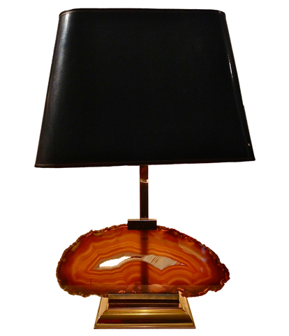 A FRENCH AGATE LAMP