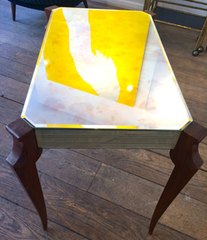 1940S FRENCH MIRRORED SIDE TABLE