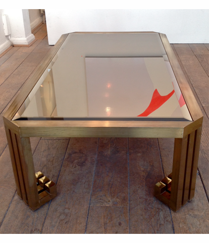 A BRASS COFFEE TABLE