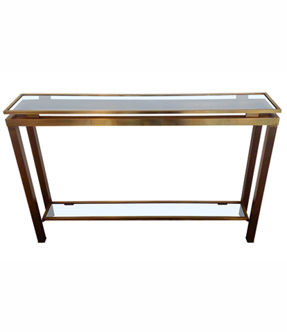 Guy Leferve brass console table 1970s