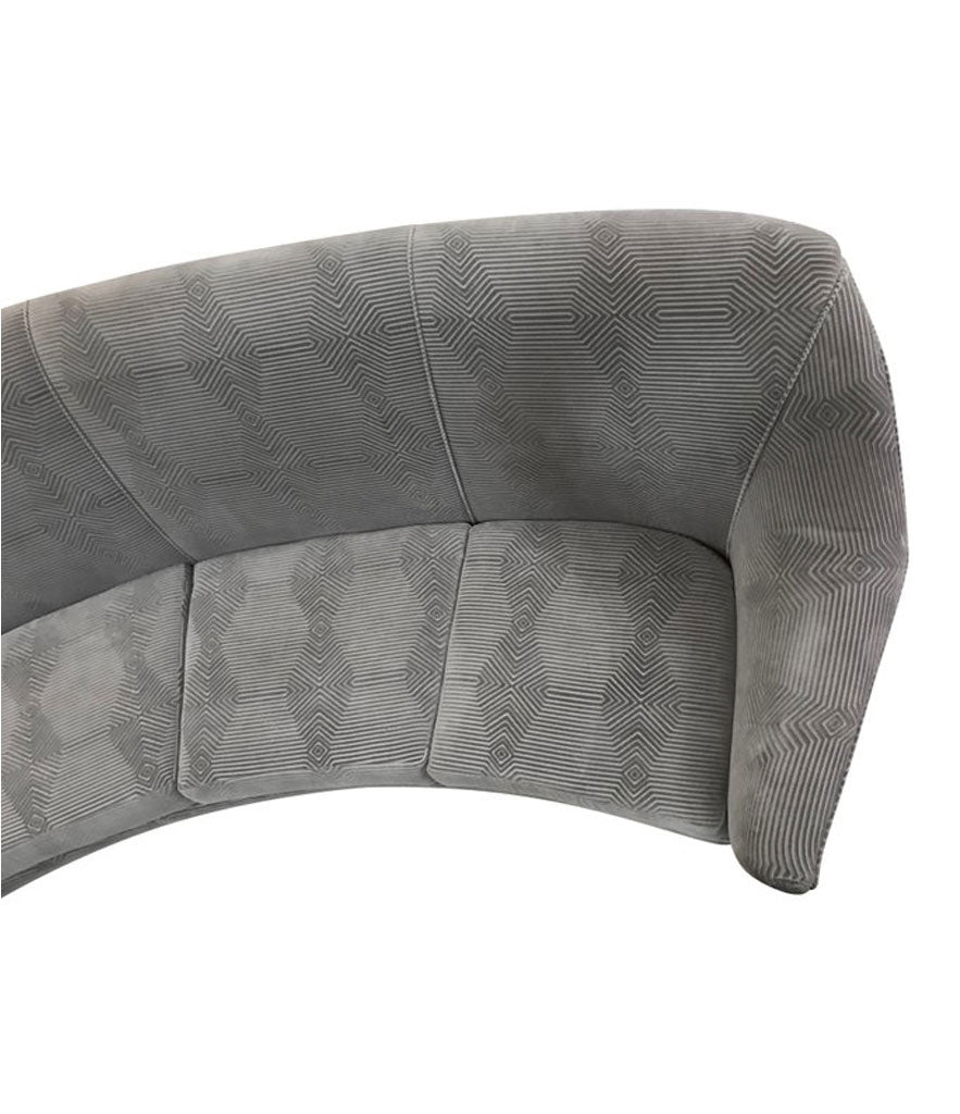 ICO PARISI CURVED FOUR-SEAT SOFA