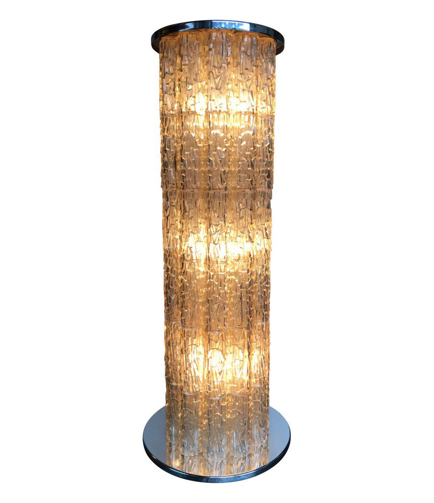 "ITALIAN 1970S ""ICE LIGHT' FLOOR LAMP"