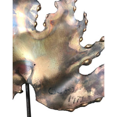 LARGE CURTIS JERE MAPLE LEAF WALL SCULPTURE