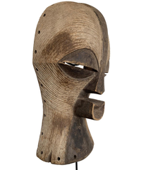 LARGE FEMALE SONGYE KIFWEBE CARVED CEREMONIAL WOODEN MASK